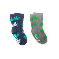 HUF - SPROUT SOCKS // GRAY / NAVY HEATHER