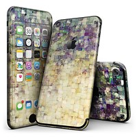 Grungy Abstract Purple Mosaic - 4-Piece Skin Kit for the iPhone 7 or 7 Plus
