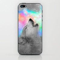 Breathing Dreams Like Air (Wolf Howl Abstract II: Grey) iPhone & iPod Skin by soaring anchor designs ⚓   Society6