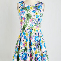 Mid-length Sleeveless Fit & Flare Come Pizzazz You Are Dress by ModCloth