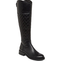 Vince Camuto Faya Quilted Wide Calf Boots - Black