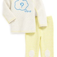 Infant Boy's Stem Baby Reversible Quilted Sweater & Pants