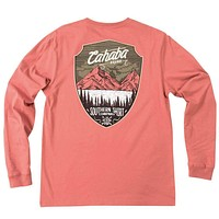 Cahaba Shield Long Sleeve Tee Shirt in Dusty Cedar by The Southern Shirt Co.