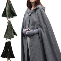Halloween Witch Costume For Women Men Adult Cloaks Cosplay Party Dress Long Deguisement Prince Princess Hooded Cloaks