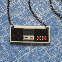 GIRL GAMER Nintendo NES Video Game Controller Necklace by PlayBox