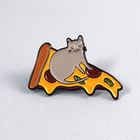 Pizza Cat enamel lapel pin - Cat pin - Enamel pin - Enamel cat pin - I like cats - Cat lapel pin - Cat jewellery - Cat gifts - Cats - Cat