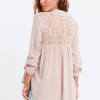Three Wishes Lace Detail Blouse