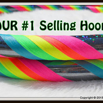 ToP SELLER - Rainbow 'Black Galaxy Mantra' - Fully Customizable Travel Hoola Hoop - UV Reactive // GLOWS in Blacklight