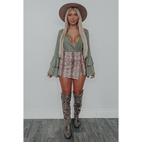 Tell Your Story Bodysuit: Olive
