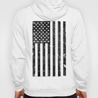 Dirty Vintage Black and White American Flag Hoody by RexLambo | Society6
