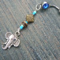 Moroccan elephant belly ring dk blue in zen yoga Indie Moroccan boho hipster new age gypsy hippie belly dancer beach and hipster style