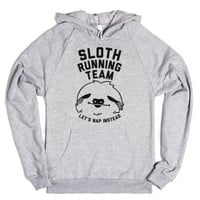 Sloth Running Team-Unisex Heather Grey Hoodie