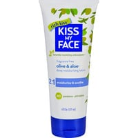 Kiss My Face Moisturizer - Olive And Aloe - 6 Oz - Fragrance Free