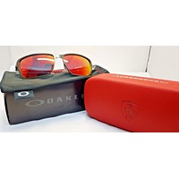 Oakley Men's Tincan Carbon Ferrari Sunglasses Carbon Frame Ruby Iridium Lens OO6