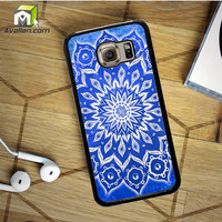 Sky Floral Mandala Samsung Galaxy S6 case by Avallen