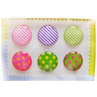 Home Button Sticker for iphone/ipad/itouch, Rainbow, 6 Stickers