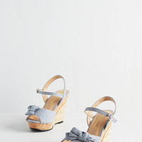 Darling Fit & Flare Barbe-cue the Music Wedge in Blue