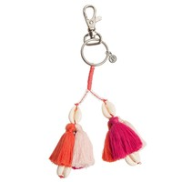 Shell Keychain Coral