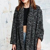 UNIF Open Sweat Coat in Charcoal - Urban Outfitters