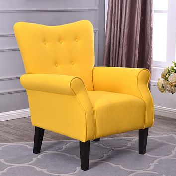 Modern Accent Chair (Citrine Yellow)