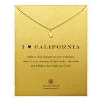 I Love California Necklace, Gold Dipped   Dogeared