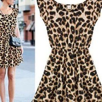 Sexy Casual Leopard Dress for Women