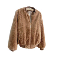 Brown Wool Baseball Jacket