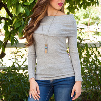 Shop Priceless Belle Top - Grey