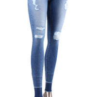 Flying Monkey Ripped High Waisted Skinny Jeans