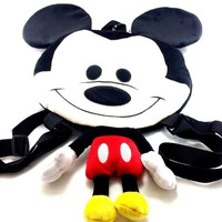 Disney Mickey Mouse Boys & Girls Red Mickey Shaped Backpack