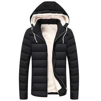 Mens Winter Thick Hooded Coats