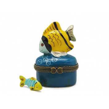 Jewelry Boxes Yellow Fish