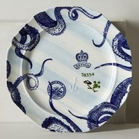 From The Deep Dinner Plate by Anthropologie in Blue Motif Size: Dinner Plate Dinnerware