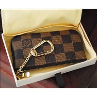 Louis Vuitton LV Fashion Household Zipper Key Pouch Clutch Bag Coin Purse Wristlet