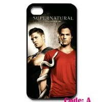Supernatural TV Series, Jensen, Jared, Misha Iphone 4 4s Case Cover ,Apple Plastic Shell Hard Case Cover Protector Gift Idea diycellphone Store