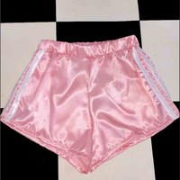 SWEET LORD O'MIGHTY! SILK KITTEN SHORTS IN PINK