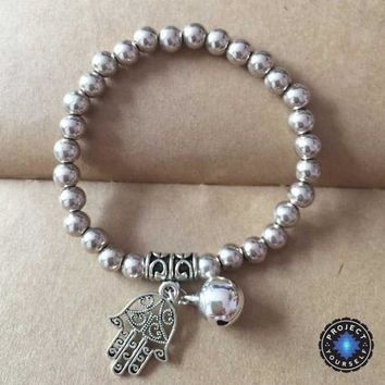 Limited Edition Tibetan Silver Beads Gypsy Charm Bracelet