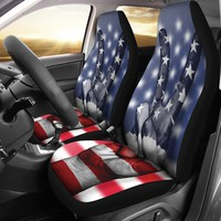 American Flag Peace Seat Covers