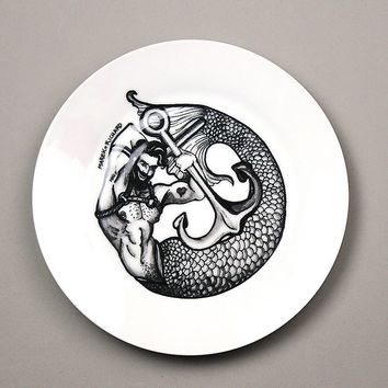 Gay Fantasy-Merman Salad Plate