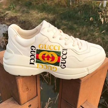 Nike Gucci simple men and women cushioning all-match sneakers