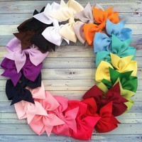 20 Hair Bows 3 inch Boutique Hairbows
