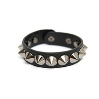 The most Couples Rivet Punk Leather Casual Fashion Bracelet Wristband Jewelry