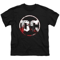 Batman Kids T-Shirt DC Logo Harley Quinn Black Tee