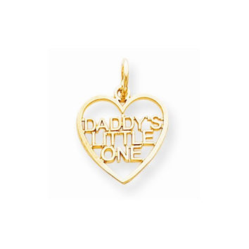 10k Yellow Gold Daddys Little one Pendant