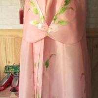 Imported Traditional Korean Hanbok - Hand Painted Salmon