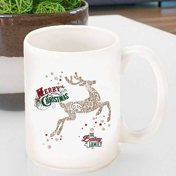 Personalized Vintage Holiday Coffee Mugs - All