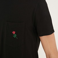 Rose Graphic Pocket Tee | 21 MEN - 2000187411