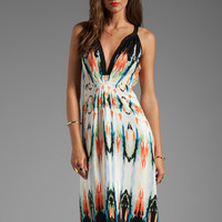 Twelfth Street By Cynthia Vincent Palma Hi/Low Maxi Dress in Watercolor Border from REVOLVEclothing.com