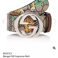 Authentic Gucci GG Supreme Bengal Tiger Belt. Limited Edition. Size 90 (30/32)