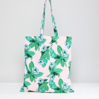 Monki Floral Tote Bag at asos.com